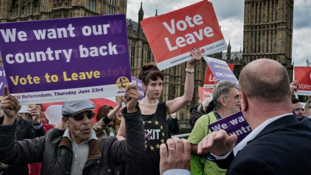Brexit will be the first fracturing of the EU since its inception in 1957 as part economic pact, part postwar alliance. Photograph: Adam Ferguson/New York Times