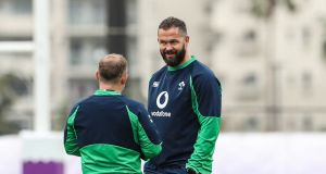 Ireland's Andy Farrell at   training in Tokyo during the Rugby World Cup. His  first match as Ireland's head coach is a Six Nations Championship game against Scotland at the Aviva stadium on  February, 1st. Photograph:  Billy Stickland/Inpho