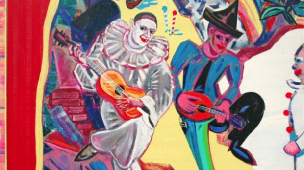 Michael Cullen, Death in Venice, or, Let's Send in the Clowns, oil on linen, Taylor Galleries