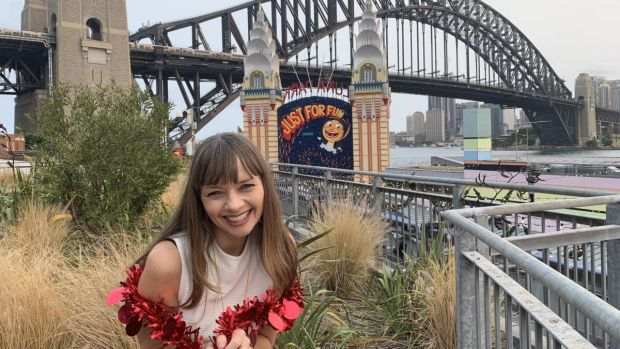Anne Casey at Sydney Harbour Bridge