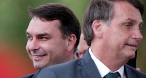 Brazil's senator Flávio Bolsonaro and his father President Jair Bolsonaro have rejected allegations of involvement. Photograph: Reuters