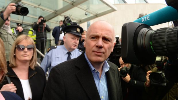 David Drumm leaving the Criminal Court in Dublin in 2016 following a bail application. Photograph: Cyril Byrne