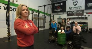 CrossFit gym owner Lorna Heyes with children no longer able to train at her fitness studio because of insurance problems. Photograph: Dave Meehan/The Irish Times