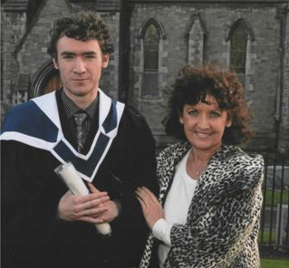 Fergal Keyes with his mother Kathleen Keyes