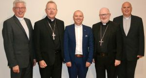 Joint statement: The leaders of Ireland's main churches (left to right) Rev Sam McGuffin, Archbishop Eamon Martin, Dr William Henry,  Dr Richard Clarke,  Rev Brian Anderson.