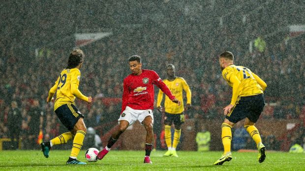 Manchester United and Arsenal meet at the Emirates in the pick of the New Year's Day action. Photo: Robbie Jay Barratt - AMA/Getty Images