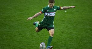 Former Ulster outhalf Paddy Jackson in action for his latest club London Irish. Photograph: Harry Trump/Getty Images