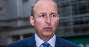 Fianna Fáil leader Micheál Martin would not commit the party to a promise to freeze rents. Photograph: James Forde