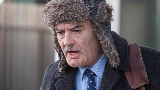 Ian Bailey leaves the High Court in Dublin on December 16, 2019 after attending a hearing considering the issue of a European Arrest Warrant by the French authorities. Photograph: Damien Eagers/AFP via Getty Images