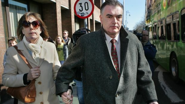 Ian Bailey and his partner Jules Thomas leaving the Four Courts in 2011. Photograph : Matt Kavanagh / The Irish Times