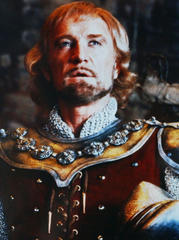 Richard Harris as King Arthur in the musical Camelot (1981). He also starred in the 1967 film version.