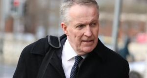Former Ryanair chief operating officer Peter Bellew disappeared quickly after the ruling was read out to avoid journalists. Photograph: Collins Courts