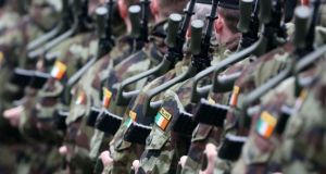 The Defence Forces has been the lowest paid public sector organisation for many years, while remaining, ironically the most trusted. Photograph: Colin Keegan/Collins Dublin