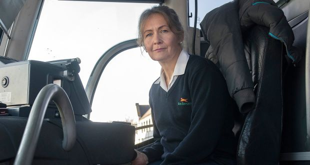 Bernadette Doyle: she began working with Bus Éireann and regularly covers the route between Wexford and  Dublin Airport, often travelling late at night. Photograph: Gerard Hore