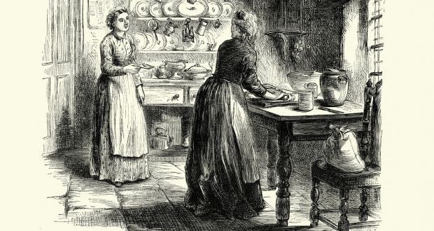Mary gave a piece of the potato cake to a young neighbour who visited the house in Meath. Illustration: iStock