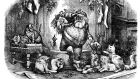 The Coming of Santa Claus by Thomas Nast. Illustration: iStock