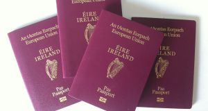 Monthly  applications for Irish passports exceeded 100,000 in January, March, April and May 2019. Photograph: Bryan O'Brien