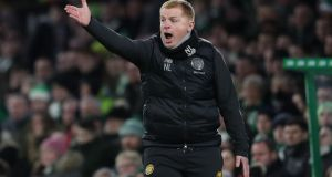 Celtic manager Neil Lennon: 'We are confident but quietly confident.' Photograph: Andrew Milligan/PA Wire.