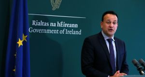 An Taoiseach Leo Varadkar says Fine Gael election manifesto will include measures to reduce income tax and USC. File photograph: Brian Lawless/PA Wire