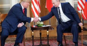 Russian president Vladimir Putin has thanked US president Donald Trump  for information that helped Russia foil terrorist attacks over the new year holidays, the Kremlin said. File Photograph: Doug Mills/NYT