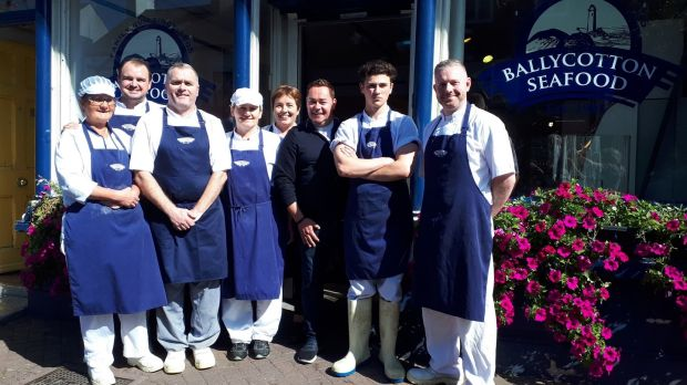Neven Maguire and the team from Ballycotton Seafood
