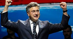 "Croatian prime minister Andrej Plenkovic has outlined a ""very intensive and dynamic"" start to the country's presidency of the EU. Photograph: Antonio Bat/EPA"