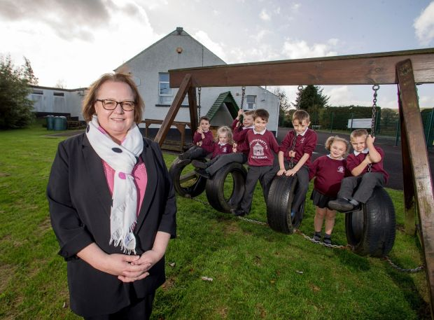 Gráinne McIlvar emphasises 'the value of the school to the community'. Photograph: Steven McAuley