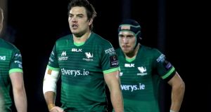Connacht's Quinn Roux: underwent surgery for a hand injury, and is not expected to return to training until February. Photograph: Bryan Keane/Inpho