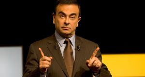 Ousted Nissan boss Carlos Ghosn, who has fled to Lebanon. Photograph:   Catherine Cabrol/Corbis via Getty Images