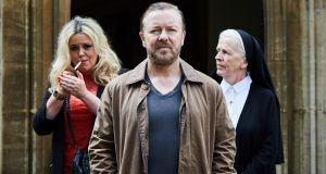Ricky Gervais in his Netflix series After Life: the show was popular with viewers but received mixed reviews