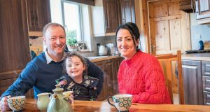 Aidan and Marina Murphy with their daughter Anna, aged 4 at their home in Ballinrobe, Co Mayo. Photograph: Keith Heneghan