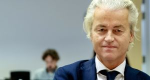 "Dutch PVV party leader Geert Wilders: claims new station will provide an  important antidote to the ""big fake news factory"" of current broadcasting. Photograph:  Sander Koning"