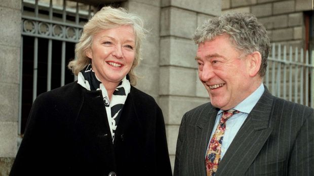 Marian Finucane pictured with her husband John Clarke. Photograph: Alan Betson/The Irish Times