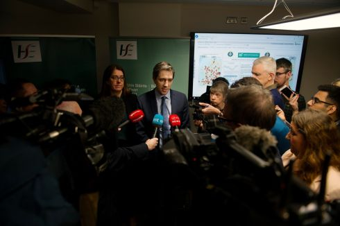 HEALTH CHECK: Minister for Health Simon Harris is pictured at a HSE winter briefing in Dublin. Photograph: Aidan Crawley/The Irish Times