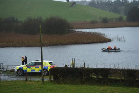 MISSING MAN: A search of Gortnawinny Lough, Clones, Co Monaghan, for missing person Michael Tony Lynch. Photograph: Philip Fitzpatrick