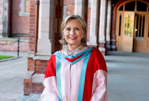 ELECTORAL COLLEGE: Hillary Rodham Clinton is appointed chancellor of Queen's University Belfast, becoming the first woman to hold the position.