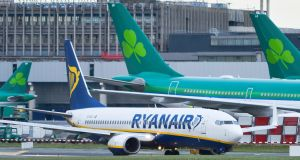 Ryanair closed 1.91% up at €14.91 amid analyst predictions of a good 2020 for air travel. File photograph: Artur Widak/NurPhoto via Getty Images