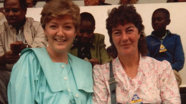 Marian Finucane pictured with her friend, the late Nuala O'Faolain. Photograph: RTÉ