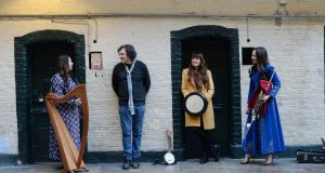 - Michelle Mulcahy, Stephen Rea, Aoife Scott and Louise Mulcahy, some of the Artists involved in TradFest2020. Photograph: Alan Betson