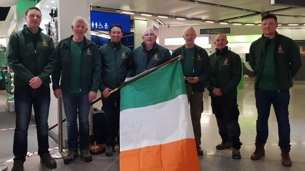 The Trout Angling Federation of Ireland team prior to departure for the FIPS-Mouche world championships in Tasmania last month: Jonathon O'Grady, Frank Dempsey, Michael Drinan, John Buckley, Stuart McGrane, Campbell Baird and Seán Dempsey.