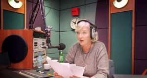 Marian Finucane, in studio at RTÉ Radio One, in 1999. Photograph: Dara Mac Donaill