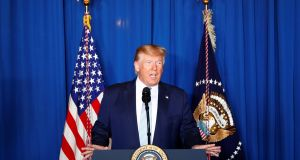 US president Donald Trump: The United States does not seek regime change in Iran. Photograph: Reuters