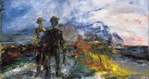 Two Travellers, Jack B Yeats (1942). Courtesy of the Tate