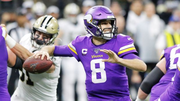 Kirk Cousins inspired the Minnesota Vikings to victory over the New Orleans Saints. Photograph: Dan Anderson/EPA