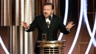 Ricky Gervais pulls no punches at the Golden Globes