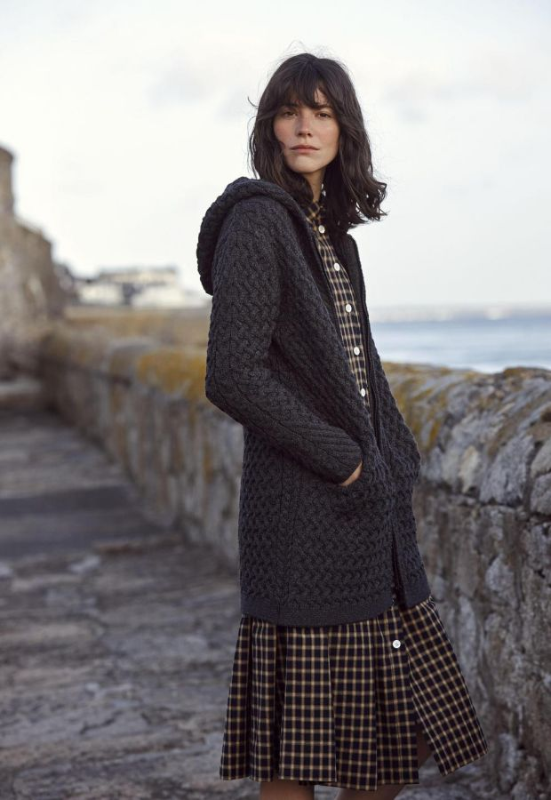 Graphite Coolquay trellis hooded coat €114.99