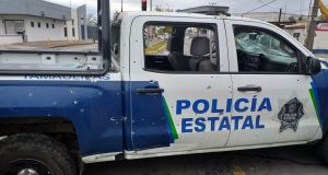 A view of a police vehicle  in Nuevo Laredo,  Mexico. A 13-year-old girl has been killed in an attack on a family south of the city. File photograph: STR/EPA