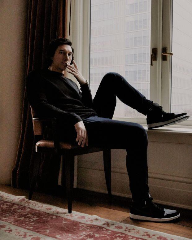 "Adam Driver: ""I don't have an instrument, I don't play the cello. It's yourself, so it's in a way, it's more vulnerable."" Photograph: Erik Tanner/The New York Times"
