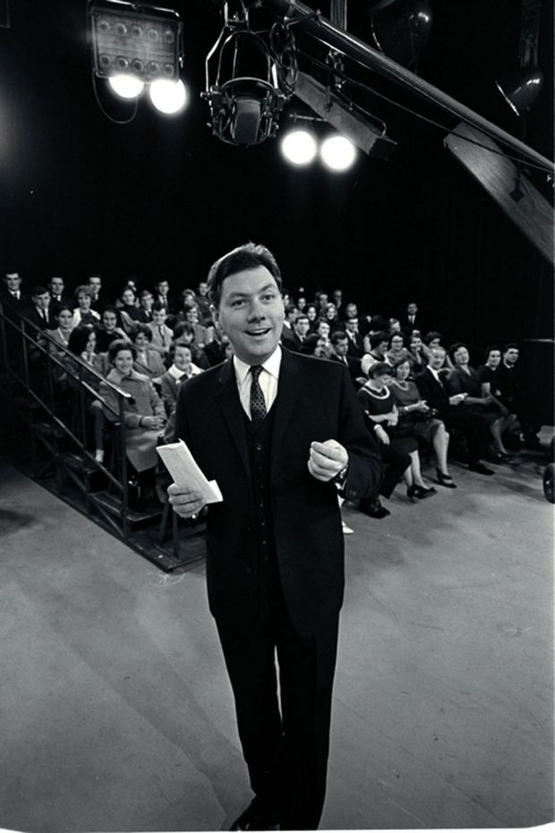 Gay Byrne on the set of RTÉ's The Late Late Show in the autumn of 1966. Photograph: RTÉ Stills Library