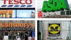 Tesco, Sainsbury's, Asda and Morrisons all suffered declines in sales over the Christmas period.